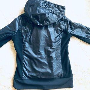 Size 6 - Black Faux Leather Lululemon Jacket